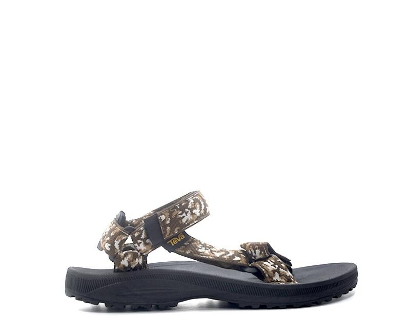 Sandalias zapatos TEVA hombre bajo tela marrón 1017419-Bcrf