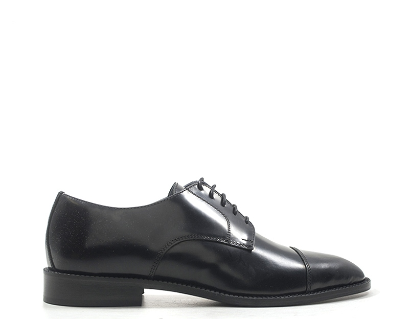 shoes JOE PARKER Man Lace up black Natural leather 105SHADE-NRS