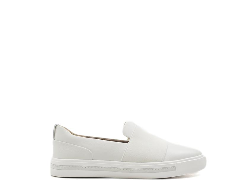 shoes CLARKS Woman Low Sandals BIANCO  140170-BI
