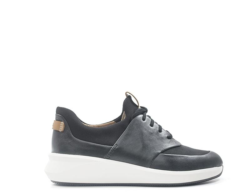 shoes CLARKS Woman Sneakers Trendy black  140395-NE