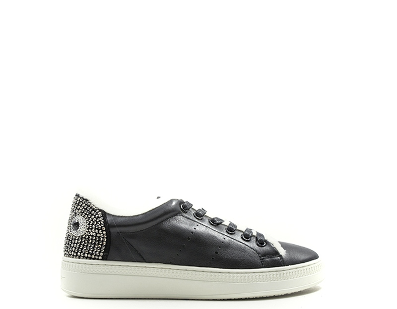 new arrivals 3488b a833a Details about Shoes LOLA CRUZ Woman Sneakers Trendy NERO Natural leather  260Z10BK