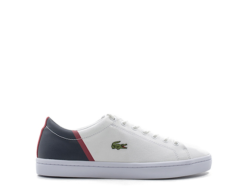 9f3156e7617 Details about Shoes LACOSTE Man Sneakers trendy BIANCO Fabric  735CAM0100-042S