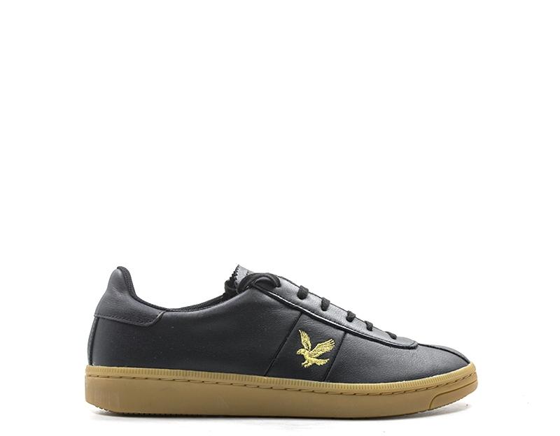 shoes LYLE 8 SCOTT Man Sneakers trendy black Natural leather 917-NE