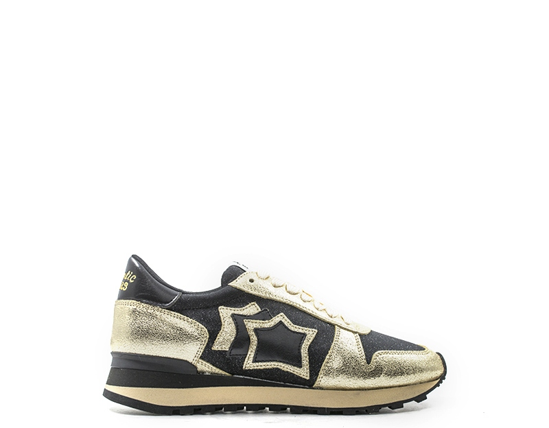 shoes ATLANTIC STARS Woman Sneakers Trendy black Fabric,Natural leather ALHENANCH