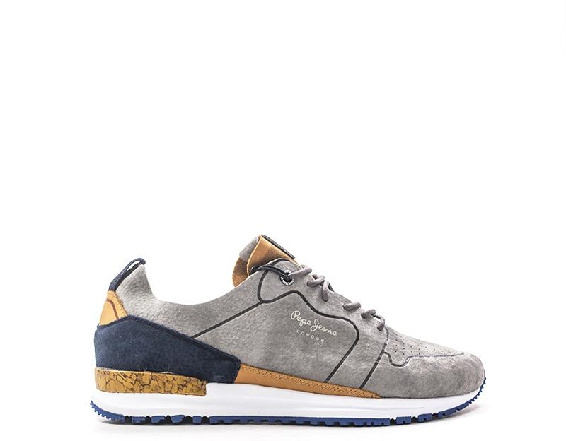 Shoes Pepe Jeans Man Sneakers Trendy Grigio Suede Pms30411 945g Ebay