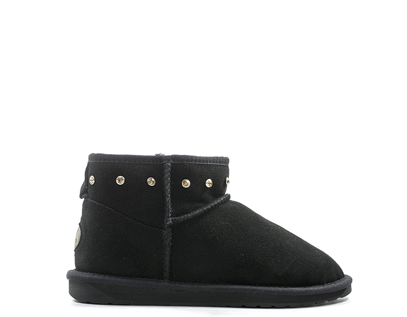 new style 78e48 b2ad9 Details about Shoes EMU Woman Ugg NERO Suede W11897-E003